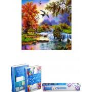 Crafterman™ Diamond Painting Pakket Volwassenen - volledige bedekking - hobby pakket - Prachtige natuur met Vogels - 30x40cm - Met tijdelijk E-Book