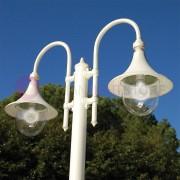 LIBERTI LAMP linea GARDEN Dione Bianco Palo Lampione Classico In Alluminio Per Illuminazione Esterno Giardino