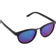 Aligatorr Retro Square Sunglasses(Blue)