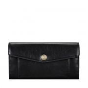 Maxwell-Scott schwarzer Leder Geldbeutel in Briefumschlag Optik - Forli - Brieftasche, Portemonnaie, Geldbörse, Kreditkartenetui