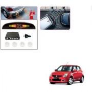 Auto Addict Car White Reverse Parking Sensor With LED Display For Maruti Suzuki Old Swift
