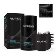 KeratinMD HAIR BUILDING FIBERS (Black) + FREE APPLICATOR COMB VALUE PACK