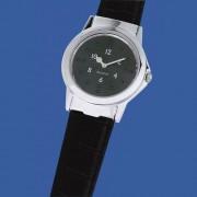Ceas de mână Braille (tactil) RNIB, bărbătesc, cu curea de piele neagră - STOC EPUIZAT TEMPORAR