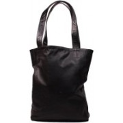 SS Leathers Women Black Genuine Leather Hand-held Bag