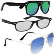 Fast Foh Aviator, Wayfarer, Retro Square, Sports Sunglasses(Silver)