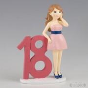 Figura para pastel 18 aniv.chica vestido
