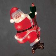 Climbing Santa Claus - LED window picture