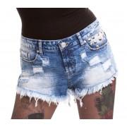 Pantaloni scurți damă Vixxsin - RAZER - BLUE DENIM - POI514