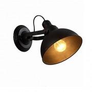 Ganeep American Iron Wall Lights Retro Personalidad Creativa Antique Black Wall Lamp Restaurant Aisle Bar Industrial Style Lighting Focos de Pared Ajustable Cabeza Superior e Inferior de la lám