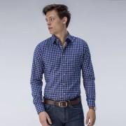 Tailor Store Rutig marinblå skjorta