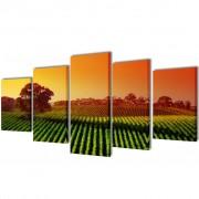vidaXL Декоративни панели за стена Полета, 100 x 50 см
