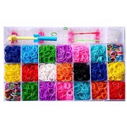 Red Rock Products Loggas Colour DIY Loom Band Kit with 4200 Colourful Rubber Bands