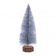 Xenos Kerstboom M met glitters - zilver - 24 cm