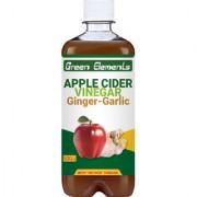 Green Elements - Apple Cider Vinegar Ginger-Garlic (Raw Unprocessed and Unrefined) with Mother Vinegar 500ml
