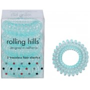 Rolling Hills Professional Hair Rings Transparent Teal Haargummi