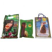 SHAMA Saniya Hair Mehandi Herbal Pure Mehandi with Herbal Red Mehandi Combo Set for Women and Girls - (150gms Each) - Pack of 3 - (Brand Outlet)