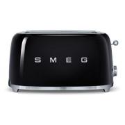 SMEG - 4 Schlitz-Toaster Schwarz Serie 50 Jahre