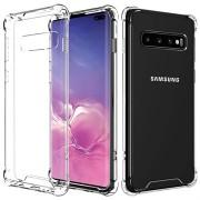 Krasbestendig Samsung Galaxy S10+ Hybrid Case - Doorzichtig