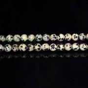 Colier jasp dalmatian sfere 6mm