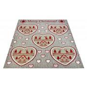 Tappeto beige MERRY CHRISTMAS passatoia 100x104 cm. BE2