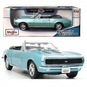 1967 Chevrolet Camaro RS/SS 396 Red 1/18 Diecast Model Car By Maisto Blue
