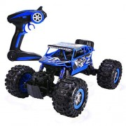 Distianert Wjl00028 1:12 4Wd Electric Amphibious Rc Car, 2.4Ghz 12Km/H High Speed Monster Truck, Off-/On-Road Buggy for All Terrain