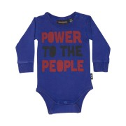 Rock Your Baby Baby Boys Power To The People Baby Suit Navy Wash Navy Wash