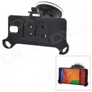 Parabrisas del coche Soporte ajustable para Samsung Galaxy Note N9000 3 / N9002 / N9005 / N9006 - Negro