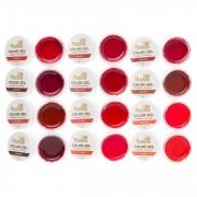 Gel color set 12 Lila Rossa - Nuante de rosu