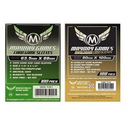 MayDay Games Game Card Sleeves 2 1/2 X 3 (100/Pack) with 100 Magnum Gold Ultra-Fit - 80 120Mm