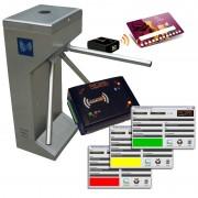 KIT COMPLETO ACCESSI PALESTRA/CLUB CON TORNELLO IN ACCIAIO E 250 CARDS RFID PERSONALIZZATE