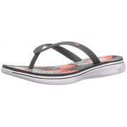 Skechers Performance Women s H2 Goga Lagoon Flip Flop Charcoal/Coral 7 B(M) US