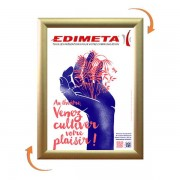 Edimeta Cadre Clic-Clac A5 DORE / GOLD