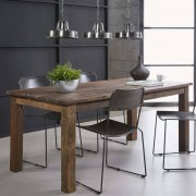 LUMZ Donkere massieve eettafel gerecycled hout