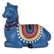 Geen Blauwe liggende alpaca / lama beeldje 9 cm - Action products