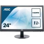 AOC E2460SH LED-Monitor (1920 x 1080 Pixel, Full HD, 1 ms Reaktionszeit, 60 Hz), Energieeffizienzklasse A
