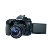 CAMARA CANON EOS REFLEX 80D 24.2 MP LCD 3.0 WIFI NFC LENTE EF 18-55 MM IS V. FULL HD