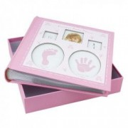 Album foto Baby personalizabil 200 poze 10x15 amprente bebelus cutie Roz