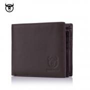 BULL CAPTAIN - barna bőr férfi pénztárca - fekvő - RFID védelemmel