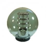 GLOB PMMA TRANSPARENT F:40CM + SUPORT PRINDERE STALP F:60MM DULIE E27 SI REFLECTOR AL.