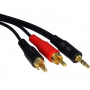 FAST ASIA Kabl audio 3.5mm - 2xRCA 1.5m crni