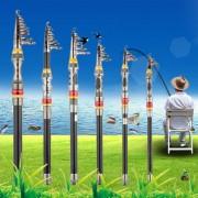 EW Super Light Carbono Telescópica Polo Agua Salada Mar Casting Cañas De Pescar 2,1 M.