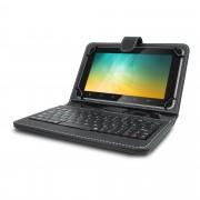 Husa Tableta 8 Inch Cu Tastatura Micro Usb Model X , Negru , Tip Mapa