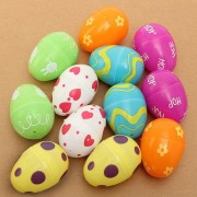 12Pcs Mixed Color Empty Easter Egg Kids Gifts Home Party Decoration