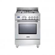 DeLonghi PRO 66 MX Cucina a Gas 4 Fuochi Forno Elettrico 59Lt Inox