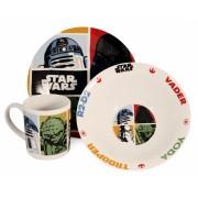 Star Wars ontbijtset: bord, schaaltje, mok (keramiek)