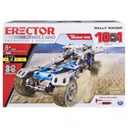 MECCANO Erector by Rally Racer 10-in-1 Building Kit, 159 Parts, STEM Engineering Education Toy for Ages 10 and Up
