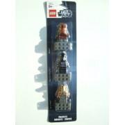 Lego Star Wars Magnet Set Jar Jar Binks V Wing Pilot Wicket Ewok #853414