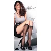 Gabriella - Subtle diamond patterned knee highs Teri 04