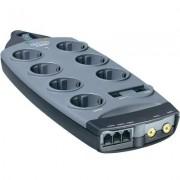 BELKIN elosztó túlfeszültség védelemmel, 7 részes, telefon/TV, antracit, 3m, 90kA, F9G726DE3M-GRY (6